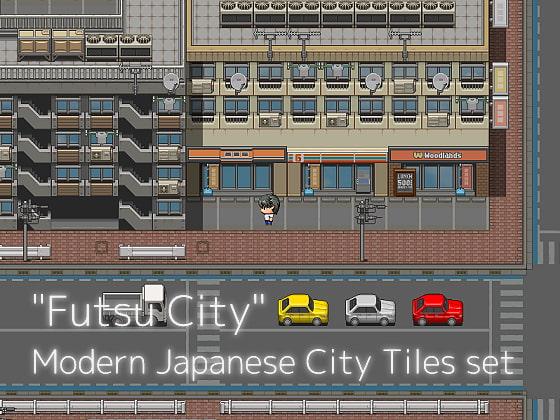 普通シティ 現代日本都市タイルセット(商品番号:RJ221985)