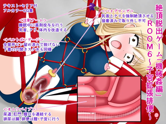 [人工美少女製作所] 絶頂脱出ゲーム「機械姦編」ROOM6~子宮拡張排便~