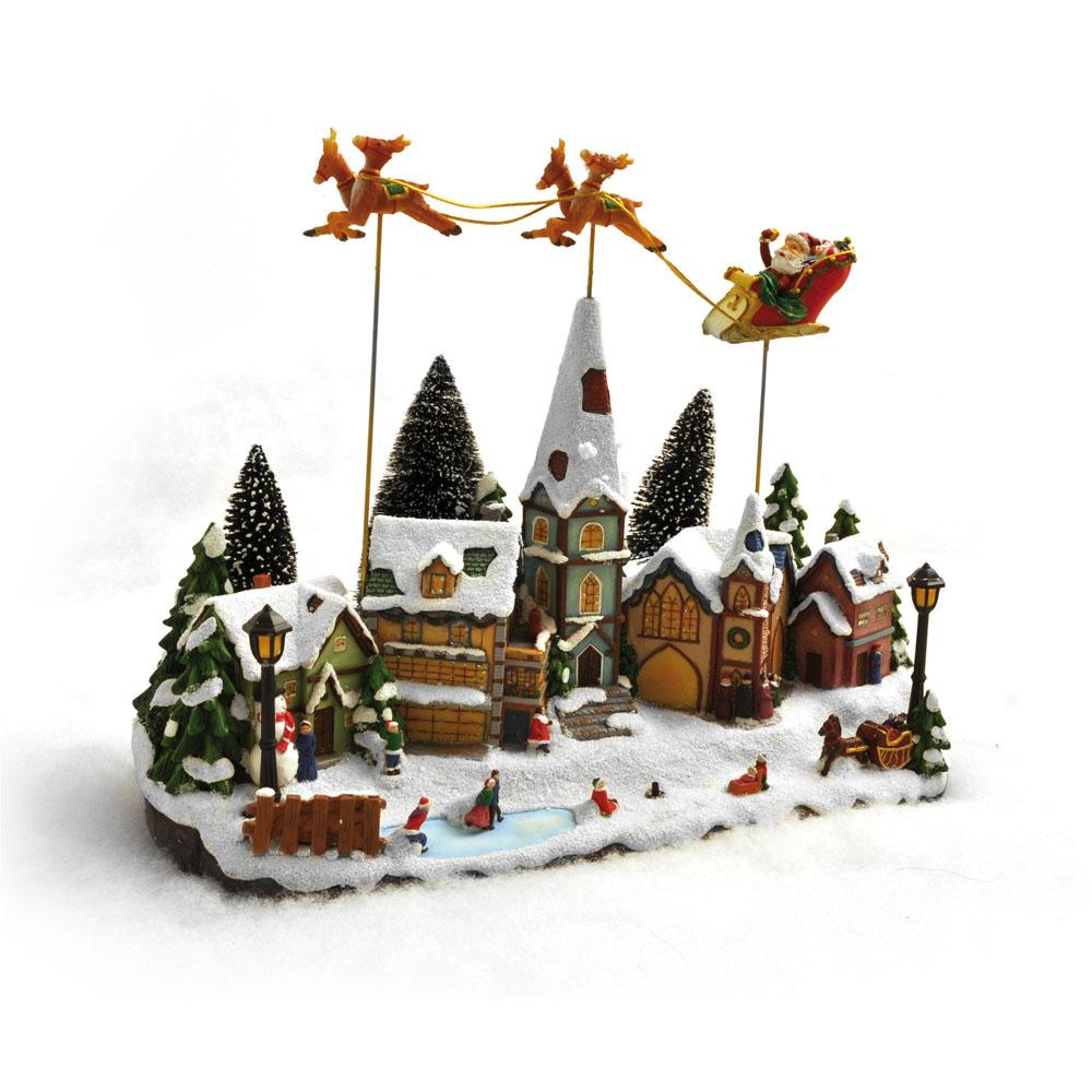 Paesaggio natalizio con luci e movimento  Natale  Dmail