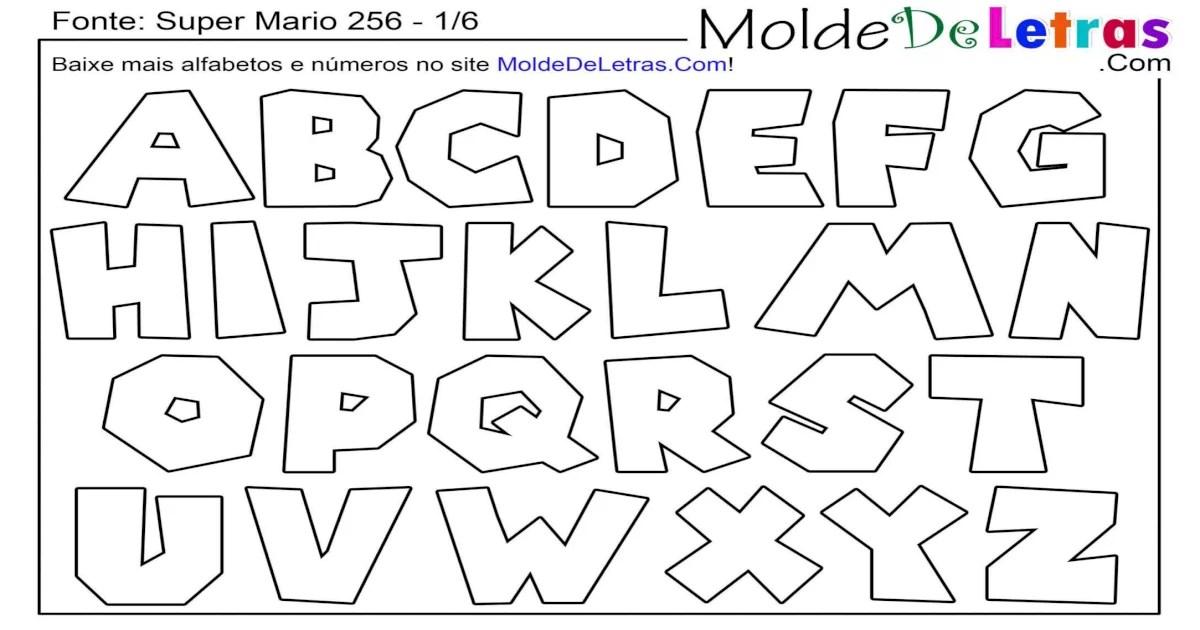 Molde de Letras Super Mario 256