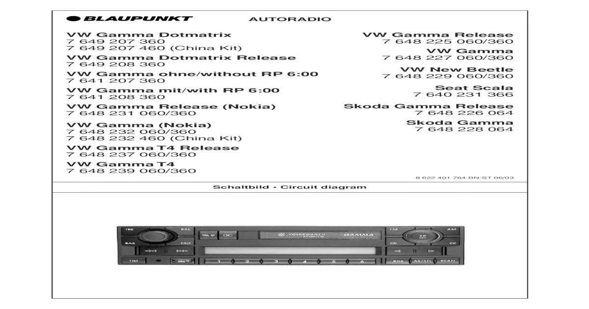 blaupunkt 2020 wiring diagram data flow using visio vw gamma v service manual eng ger