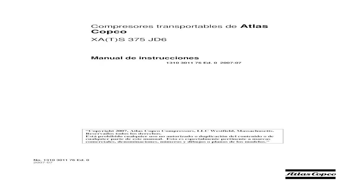 Manual de Instrucciones Xas 375 JD6