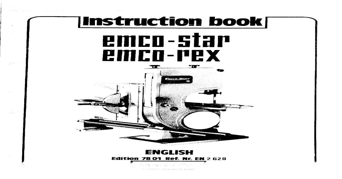 Emco Star Manual