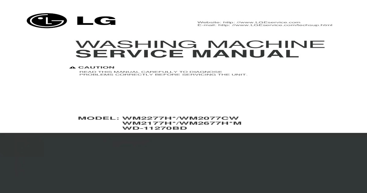 Lg Washer Repair Manual