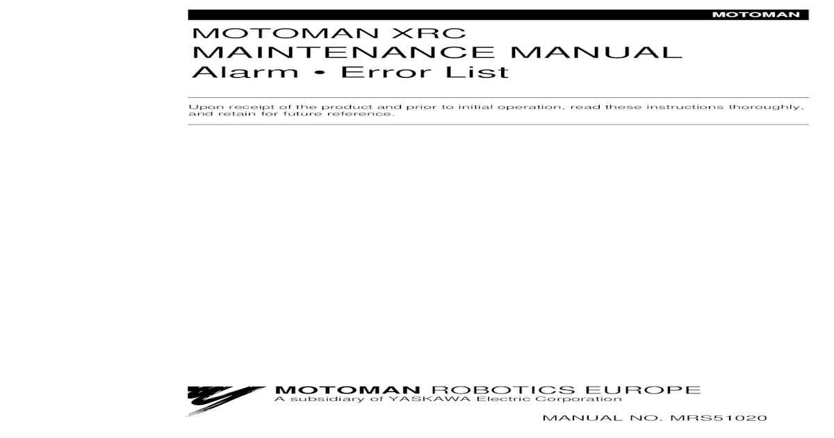 LP1 4000 ALARM MANUAL