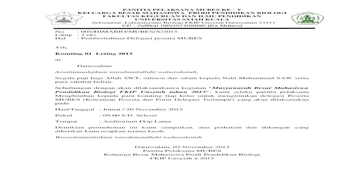Contoh surat delegasi