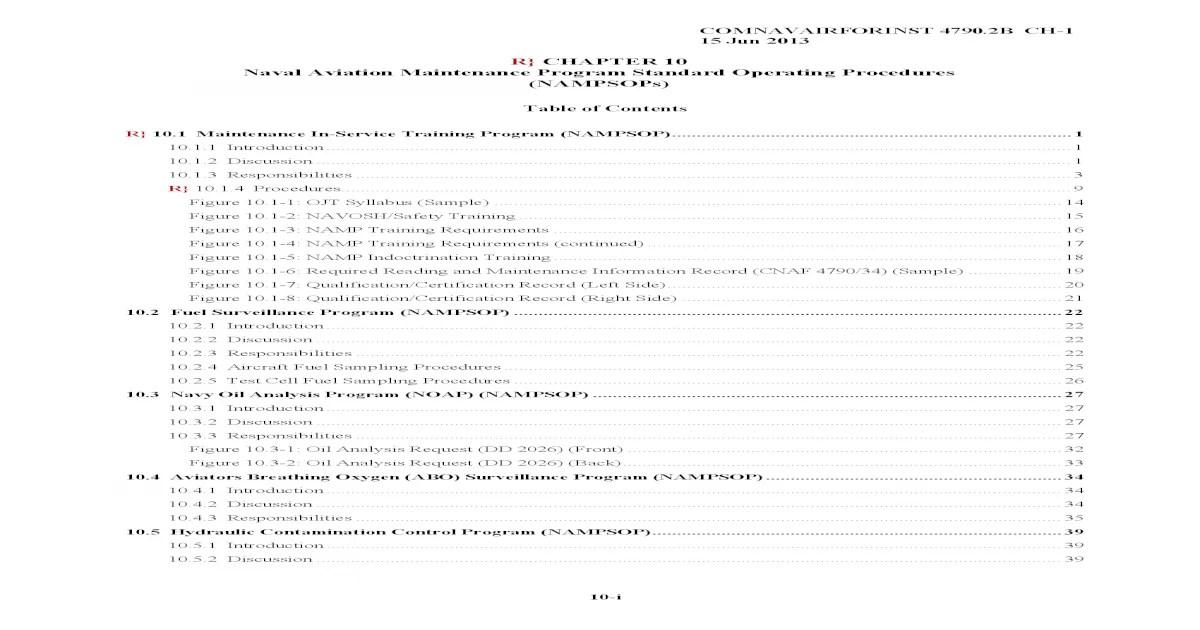 R} CHAPTER 10 Naval Aviation Maintenance Program material