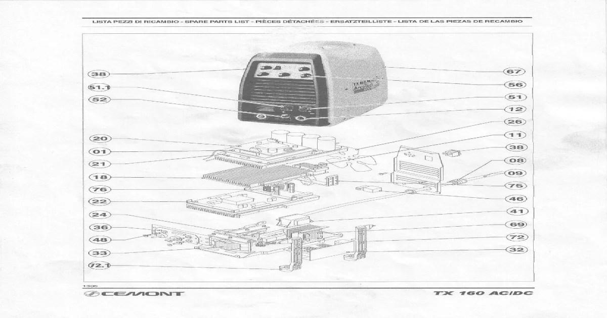 Thermal Arc 150 gtsw, Cemont ac/dc tx150 service manual
