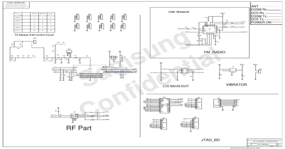 samsung e1200 schematic diagram