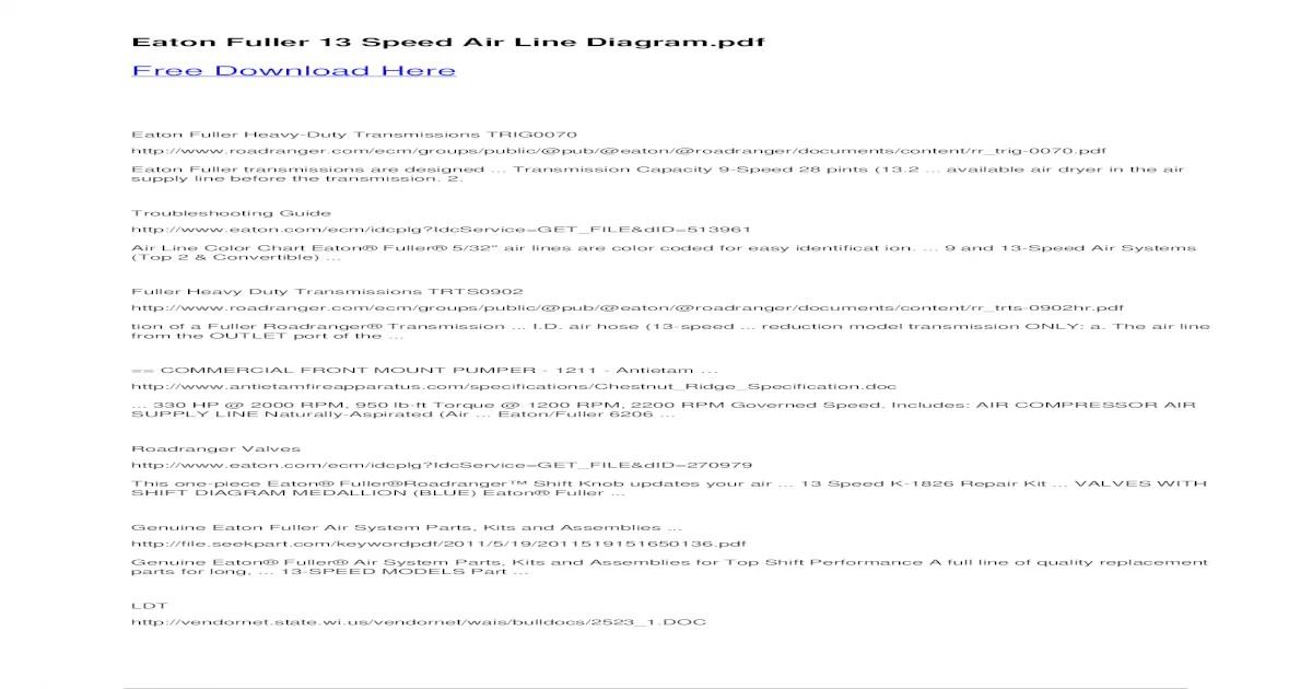 fuller 13 speed transmission diagram electrical wiring symbols list eaton air line free heavy duty transmissions trig0070 pub