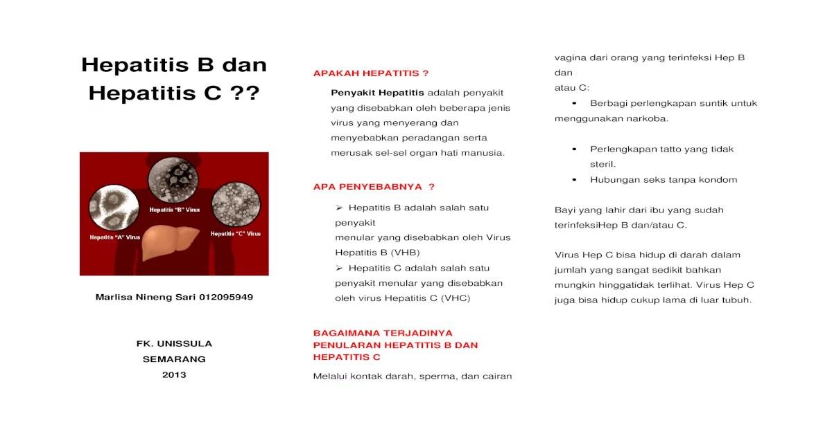 Hepatitis B Dan Hepatitis C