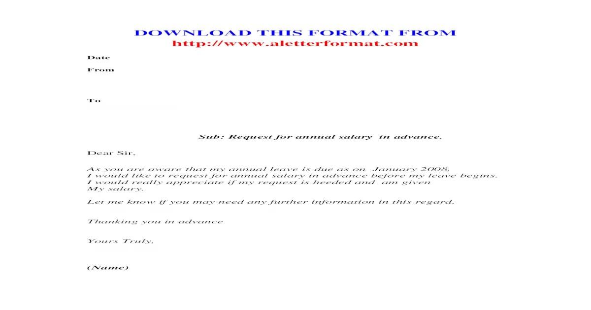 Leave Encashment Requisition Letter