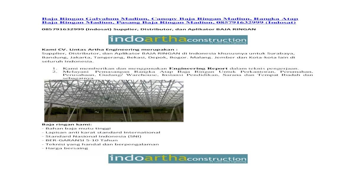 distributor baja ringan di depok galvalum madiun canopy rangka