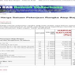 Analisa Harga Satuan Pekerjaan Atap Baja Ringan 2017 Rangka Software Rab