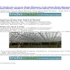 Harga Baja Ringan Per Batang Malang 085791632999 Indosat Grosir Galvalum