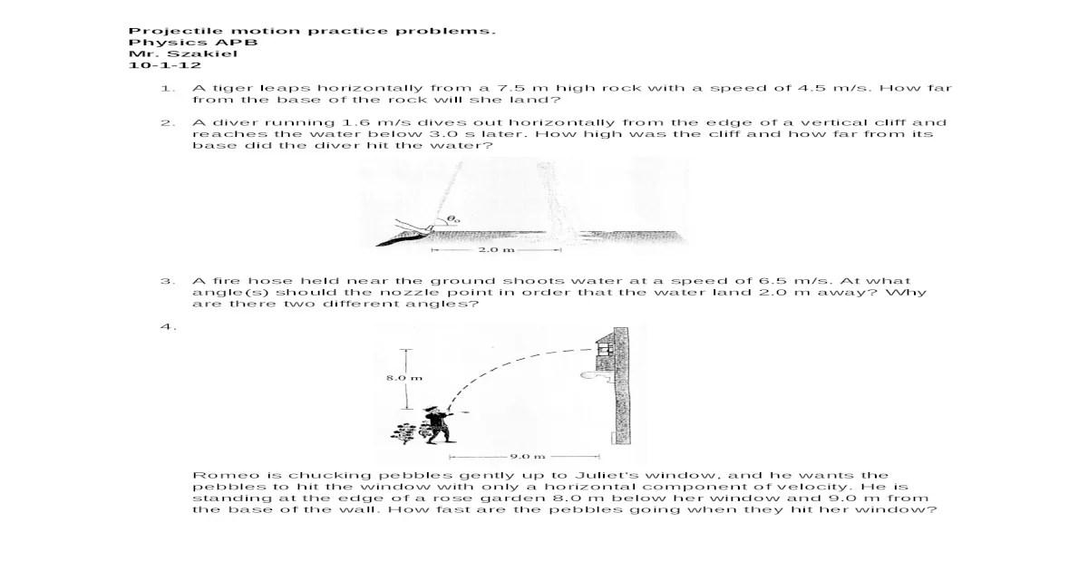 10-1-12 Projectile motion practice problems APB.docx