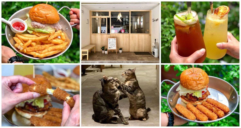 【台北美食】TakeOut Burger&Cafe|隱藏在巷弄內的手工漢堡專賣店,店內還有四隻可愛的貓咪!