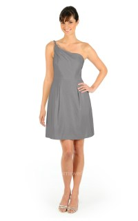 Short Fabulous A-Line One-Shoulder Dress With Pockets ...
