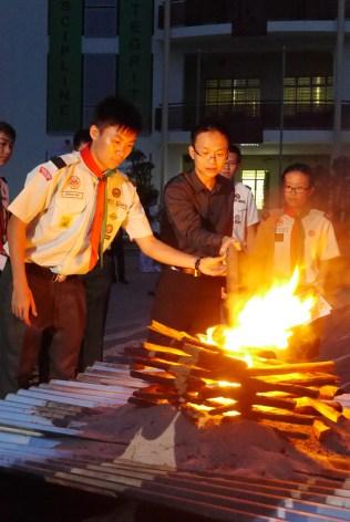 Campfire burning !