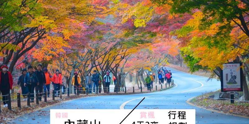 韓國賞楓自由行 | 內藏山四天三夜行程、交通規劃+順遊釜山、全州、首爾、大邱