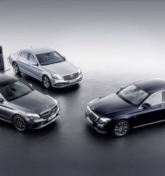 2018 mercedes benz c class and e class plug in diesel hybrids show up at geneva [ 1200 x 675 Pixel ]
