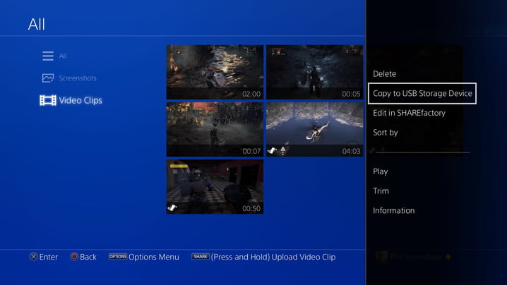 copy to usb how to record a gameplay video on ps4