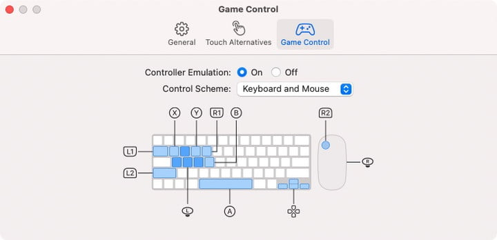 Controller Emulation for an iOS game running on MacOS