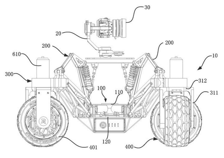 DJI Patent Describes a Remote-controlled Rover With Camera