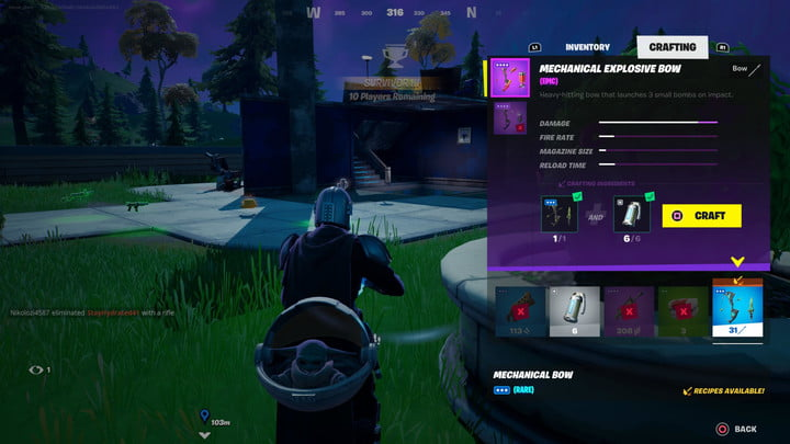 fortnite-season-6-week-2-challenge-guide-craft-a-mechanical-bow-a-mechanical-explosive-bow-and-a-mechanical-shockwave-bow