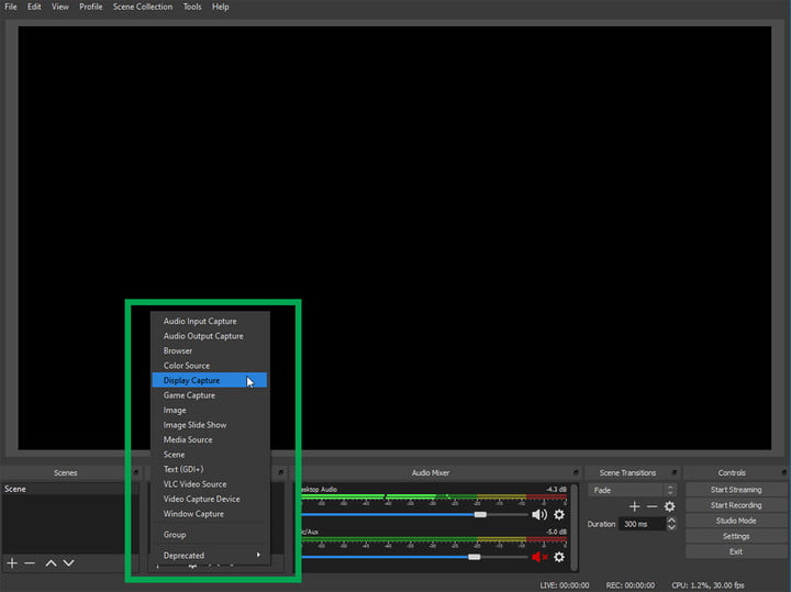 How to add a source to OBS