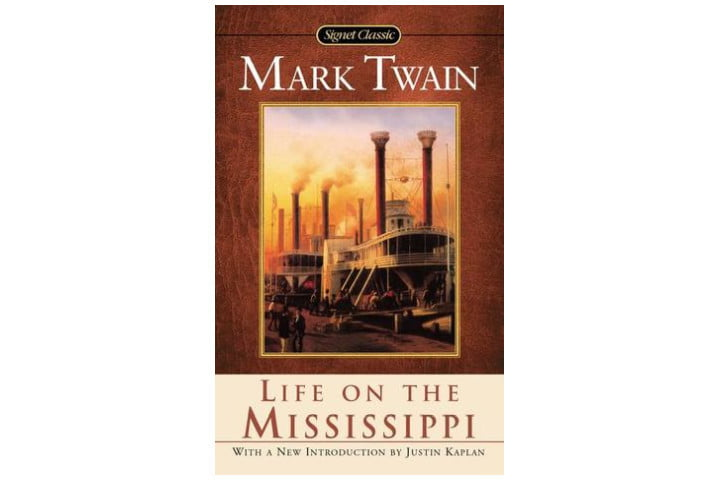 Photo shows the cover of the book with a picture of two steam boats. Above the picture is the author's name and the title is at the bottom