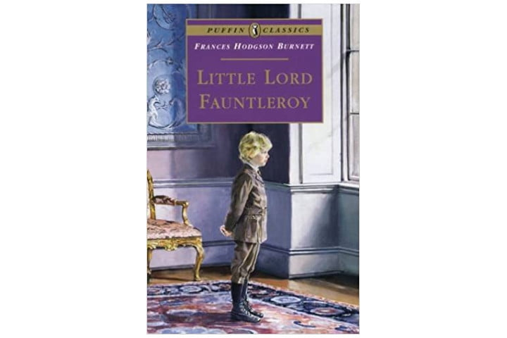 Photo shows the book cover of Little Lord Fauntleroy by Frances Hodgson Burnett, with a little boy