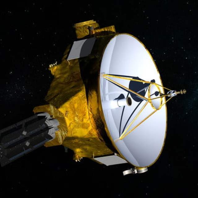 Artist's impression of NASA's New Horizons spacecraft, en route to a January 2019 encounter with Kuiper Belt object 2014 MU69.