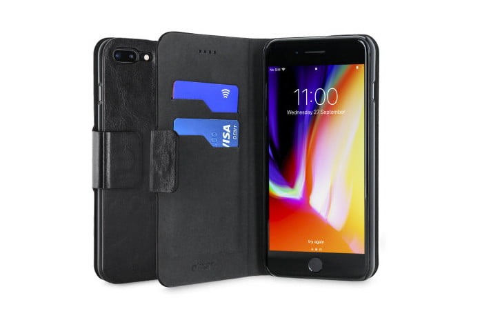 Olixar Leather-Style Wallet Stand Case for iPhone 7 Plus