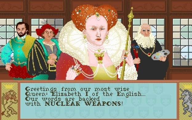 Queen Elizabeth I threatens to attack with nuclear weapons