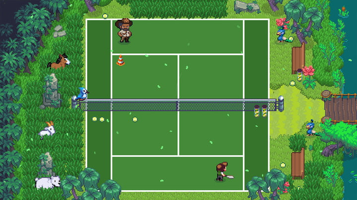 Playing Tennis in Sports Story