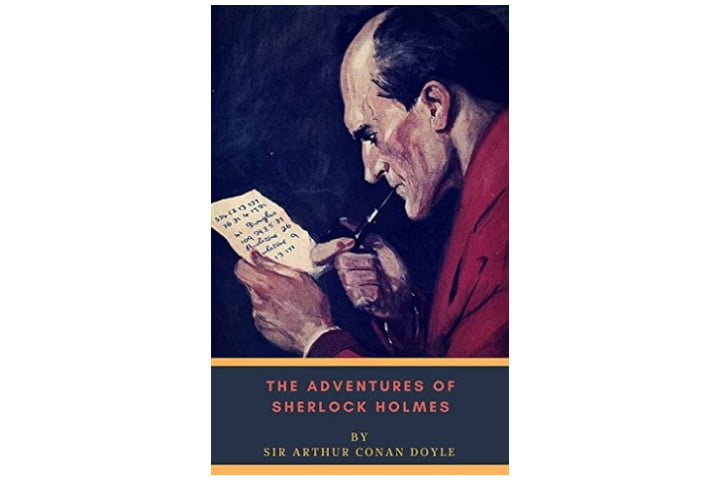 Picture shows the book cover with an illustration of a man smoking a pipe and reading a letter, with the book title and author name at the bottom