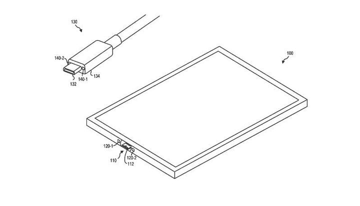 Microsoft Patents a Magnetic USB-C Surface Connector