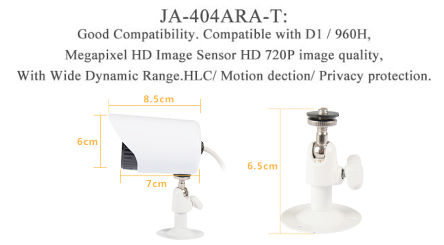 JOOAN 4-CH AHD Digital Video Recorder w / Outdoor 720P