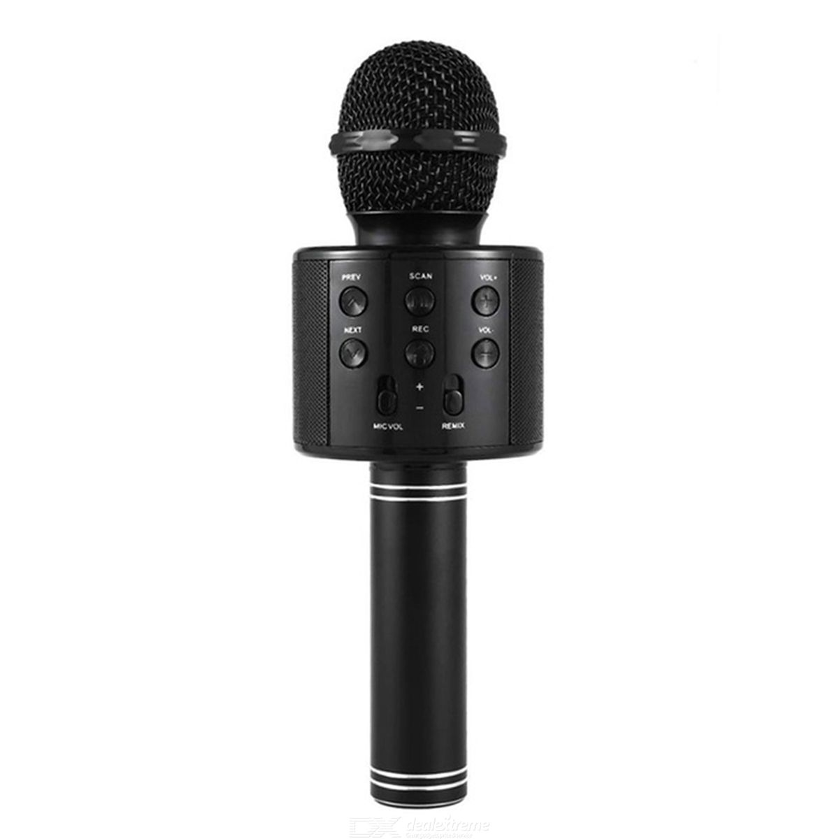 VRrobot WS858 Handheld Bluetooth Wireless karaoke Microphone with USB, 3.5mm, TF - Free shipping - DealExtreme