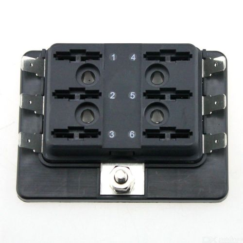 small resolution of  f286 car rv 6 way fuse box without light automotive blade fuse box block holder