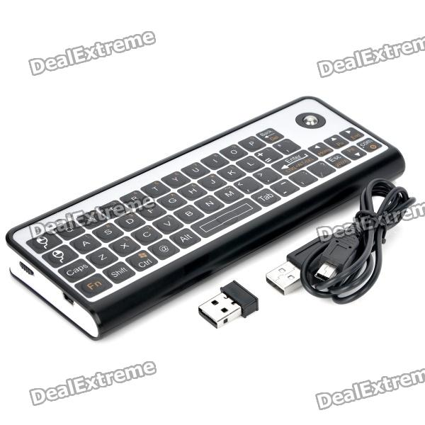 3-in-1 51-Key Keyboard + Trackball Mouse + IR Infrared