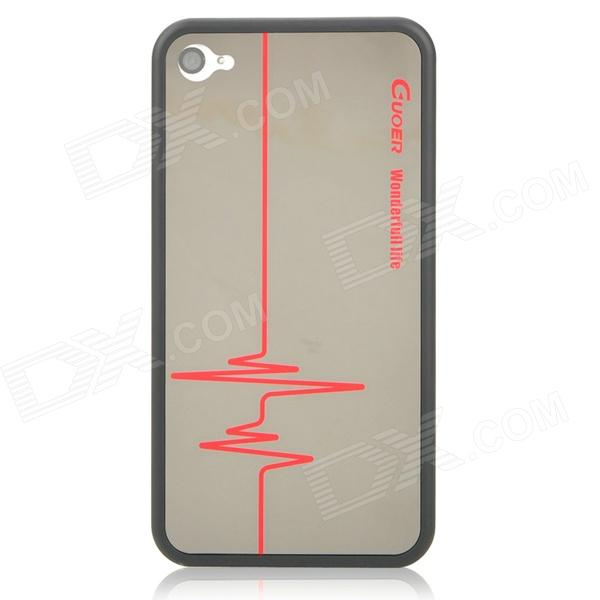 back of iphone 4s diagram led dimming wiring guoer mirror ecg pattern protective case for 4 select regional settings