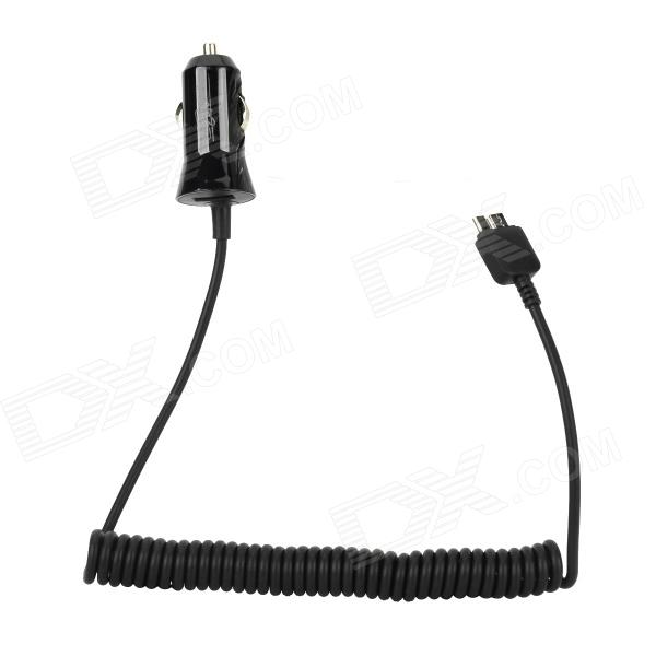 Car Cigarette Lighter Charger w/ Spring Wire for Samsung
