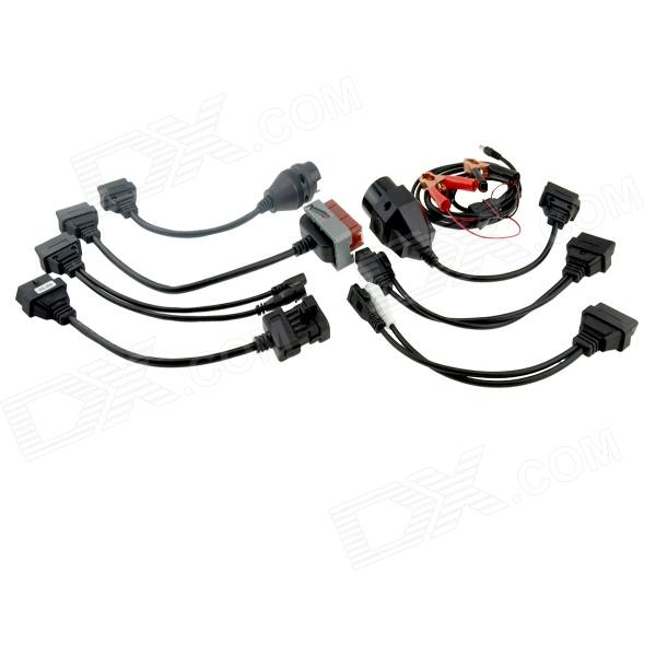 8-in-1 OBD OBD2 OBDII Adapter Converter Cable Pack for Car
