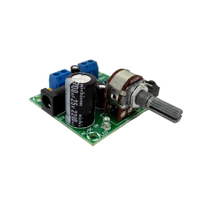 Sj2038 Mini Hifi 2 X 5w Audio Amplifier Board W Led Indicator Blue