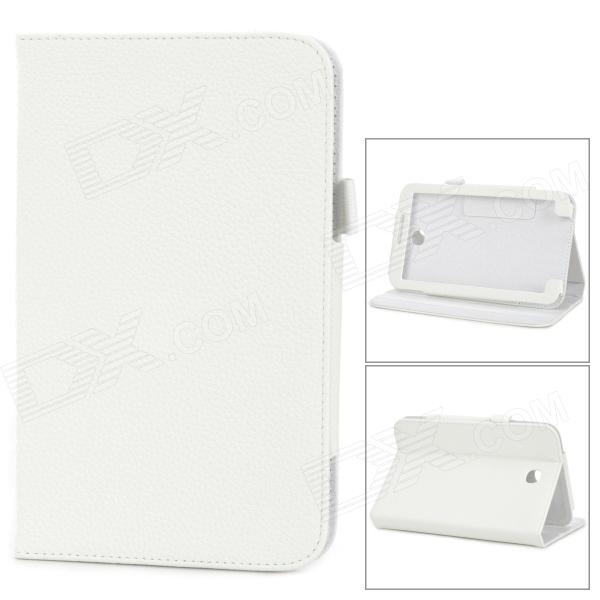Lychee Grain Style Protective PU Leather Case for Samsung