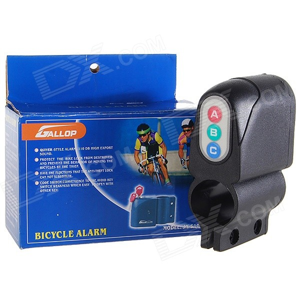 Vibration Activated 110dB Bicycle Anti-Theft Security Alarm with Password Keypad