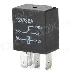 12v 30a Relay 4 Pin Wiring Diagram Nuheat Signature Thermostat / 5-pin Power Para El Coche De Aire Acondicionado Ac - Negro Sin Gastos Envío ...