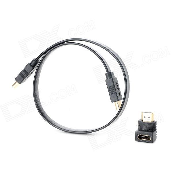 Combo HDMI Male to Male Connection Cable w/ 90 Degree